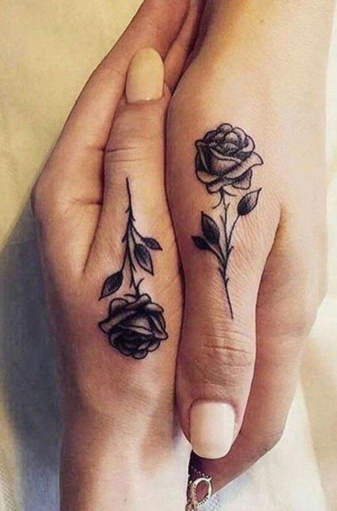 66615dd8 Cool Unique Black Single Rose Finger Hand Tattoo Ideas for Women - Ideas de  tatuaje de