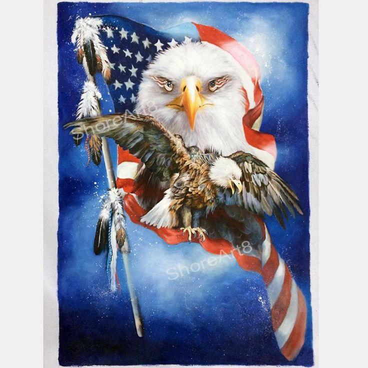 moderna pittura A olio astratta tela, quadri A olio dipinti murali decorazioni la casa animali bandiera americana