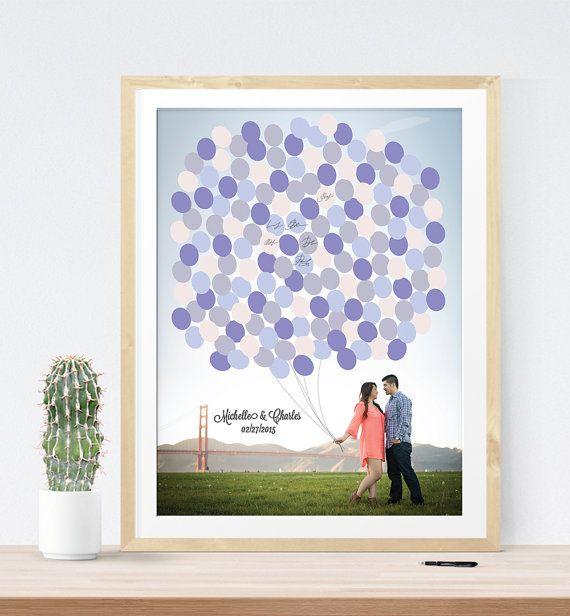 Wedding photo guest book alternative print custom by MDBWeddings