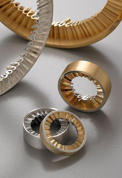 Beautiful modern posey rings