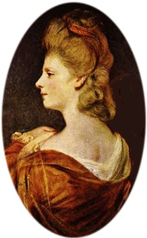 Elizabeth Armistead painted by Sir Joshua Reynolds: Prostitute and then mistress to Prince George. Known for her charm and wit. Ultimately ended up happily ever after in a cottage, married and nearly respectable to Charles James Fox. They lived a rustic happy life, utterly devoted to one another until he died in 1806.