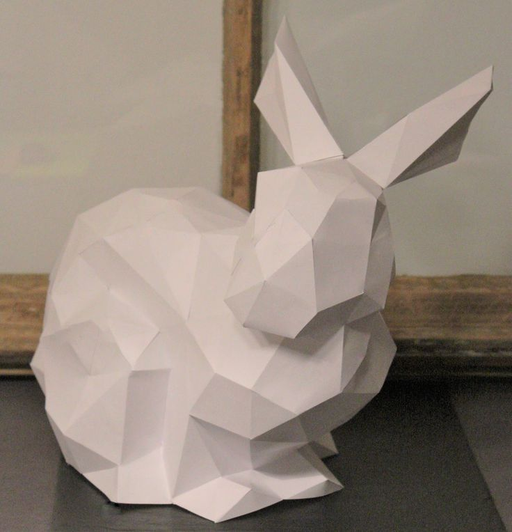 Shabbylinas Welt... : Polygonal - Osterhase aus Papier