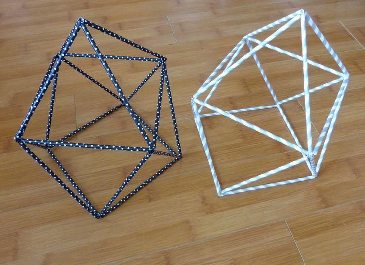 Une fille hibou: Créer une structure géométrique