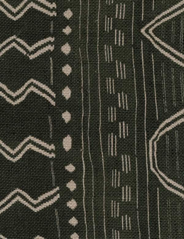 Geronimo Fabric  A Navaho style print on slubby linen.