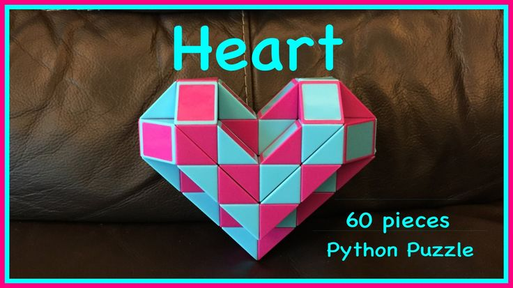 Smiggle Python Puzzle or Rubik's Twist 60 Tutorial: How to Make a 3D Heart Shape