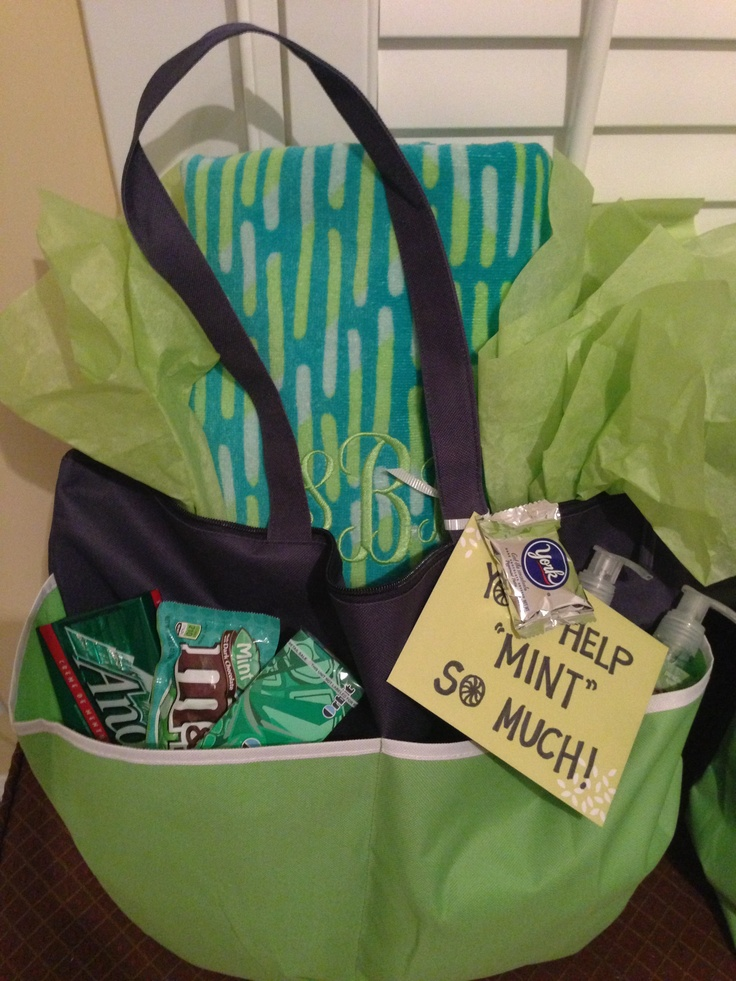 "Room mom gift :) your help ""mint"" so much! This was super fun to make!"