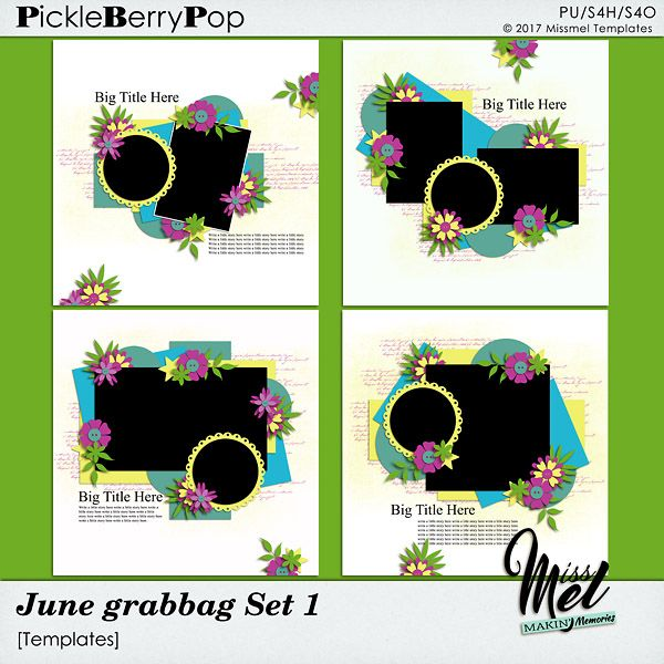 June Grabbag Set 1 by MissMel Templates https://www.pickleberrypop.com/shop/product.php?productid=51694&page=1