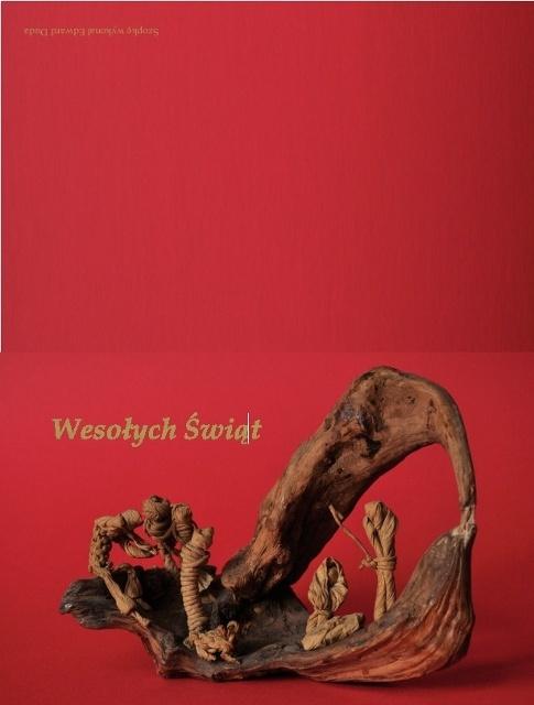 Szopka z korzenia z drzewa i sznurków / Crib from root of the tree and strings