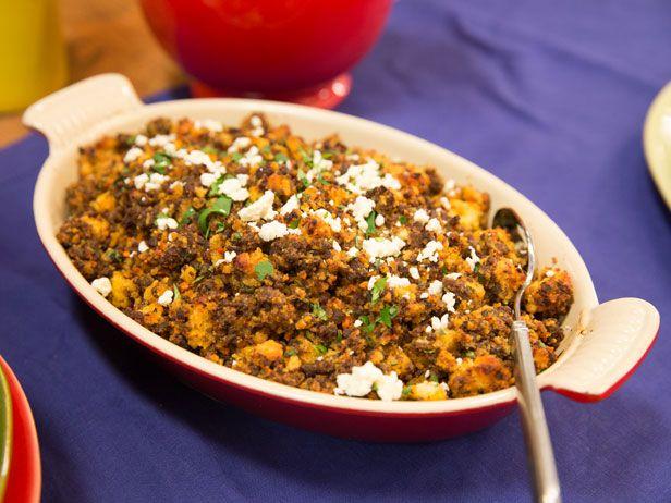 Chorizo and Cornbread Stuffing Recipe : Aarón Sánchez : Food Network ...