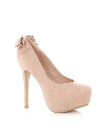 Stone Back Bow Court Shoes