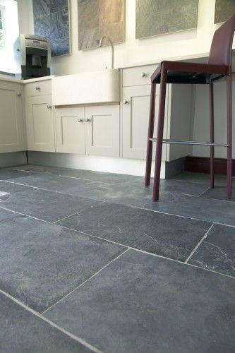 Grey Tile Floor Living Room