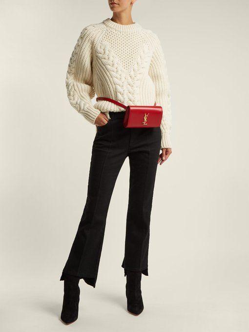 Saint Laurent Kate leather belt bag  29802f8b8ea99