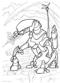 Скачать раскраску робот машина