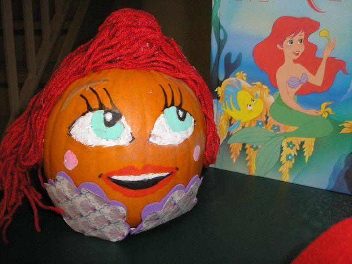 the little mermaid book character pumpkin pumpkin