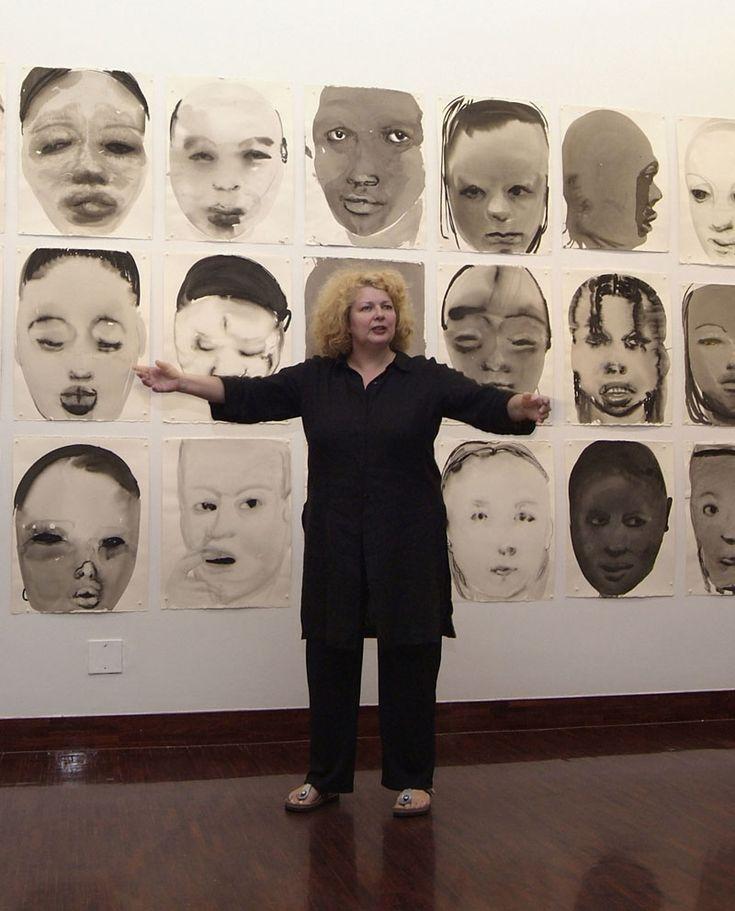 Marlene Dumas (1953) is een in Zuid-Afrika geboren kunstenares. Toen ze een beurs kreeg om te studeren aan het Nederlandse kunstenaarsinstituut Ateliers '63, verhuisde Dumas in 1976 naar Amsterdam, waar zij nog steeds woont en werkt. Het thema tegenstelling, waar zij in haar leven in Zuid-Afrika met de apartheid veel mee te maken had (blanken tegenover zwarten, cultuurverschillen, confrontatie van de geslachten), beïnvloedde haar werk.