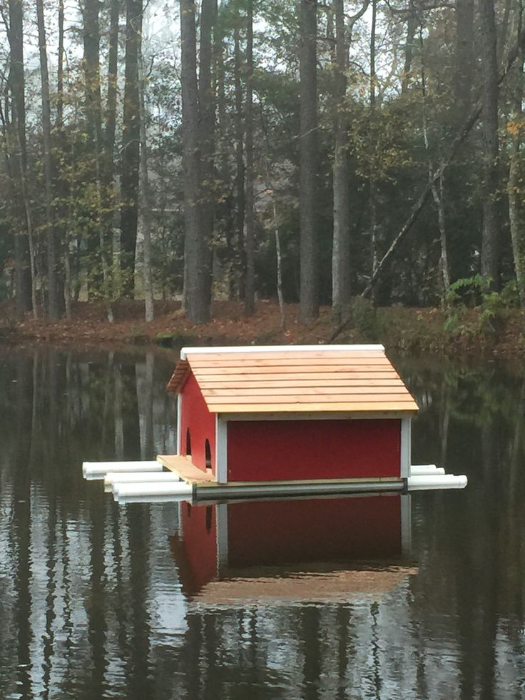 20 best floating pond islads images on pinterest garden for Building a duck house shelter
