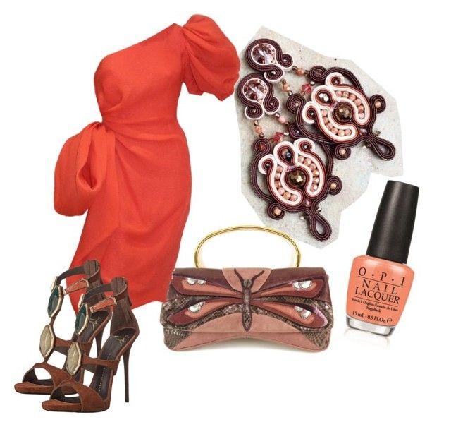 pumpkin by galeriamagia on Polyvore featuring moda, Givenchy, Giuseppe Zanotti, Miu Miu and OPI