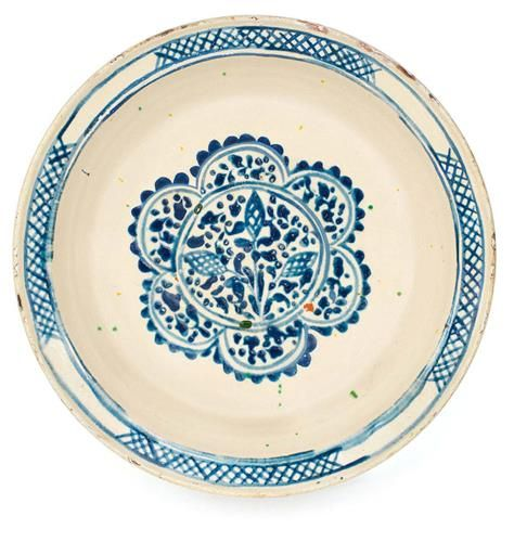 Alif Art   Canakkale Ceramic Plate R: 32.5 cm. End 18th cent. Restored
