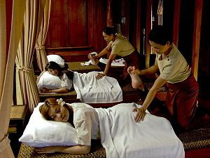 """What is today called """"Thai massage"""" or """"Thai yoga massage"""" is an ancient healing system combining acupressure, Indian Ayurvedic principles, and assisted yoga postures. The founding father of Thai massage was an Ayurvedic doctor named Jivaka Kumar Bhacca, who is revered still in Thailand as the """"father of medicine"""". Born in India during the time of the Buddha, he is noted in ancient documents for his extraordinary medical skills, his knowledge of herbal medicine, and for having treated..."""