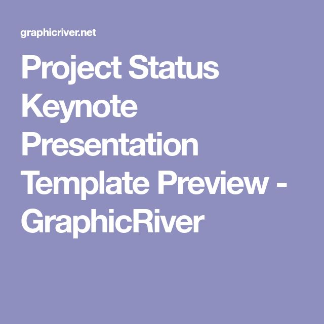 Project Status Keynote Presentation Template Preview - GraphicRiver
