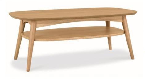 Stockholm Walnut Timber Coffee Table With Shelf