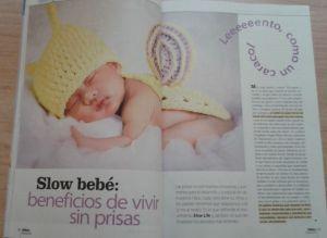 Artículo sobre Slow Life del Bebé, colaboración de Jesús Jarque para la revista Ser Padres