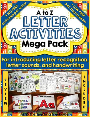 The Teaching Treehouse  from  Letter Activities Mega Pack on TeachersNotebook.com -  (306 pages) - I hope that the letter activities in this pack will be of great use to you as you begin to introduce your students to the letters of the alphabet!