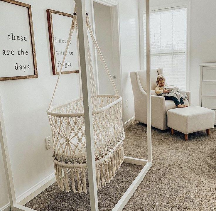 Lauren Stewart-Kinderzimmer Dekor, hängende Stubenwagen, Makramee Toys, Kids & Baby #Dekor #Hängende #Lauren #Makramee