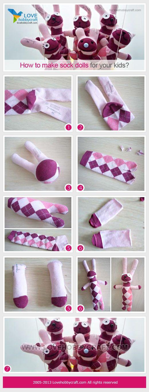 how to make sock dolls