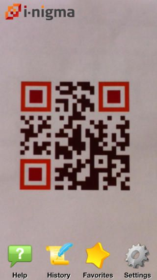 i-nigna barcode scannar - QR-läsare för iOS (iPhone/iPad).