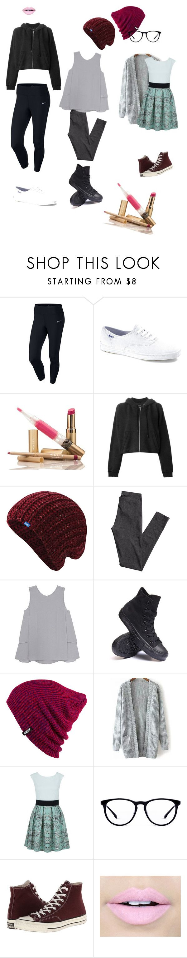 """Tomboy outfits"" by fashion-lover63 ❤ liked on Polyvore featuring NIKE, Keds, rag & bone, H&M, Olive + Oak, Converse, Vans, Closet and Fiebiger"