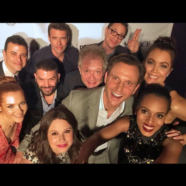 Jimmy Kimmel, Scott Foley, Josh Malina, Guillermo Diaz, Jeff Perry, Bellamy Young, Darby Stanchfield, Tony Goldwyn, Katie Lowes, and Kerry Washington