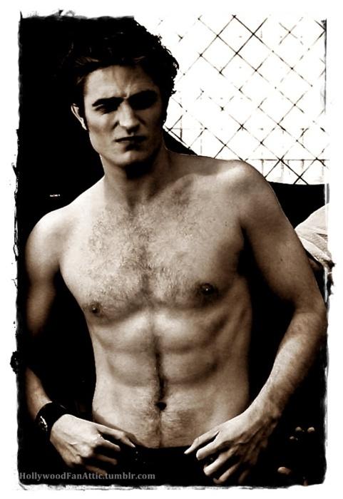 Epic Edward shirtless.