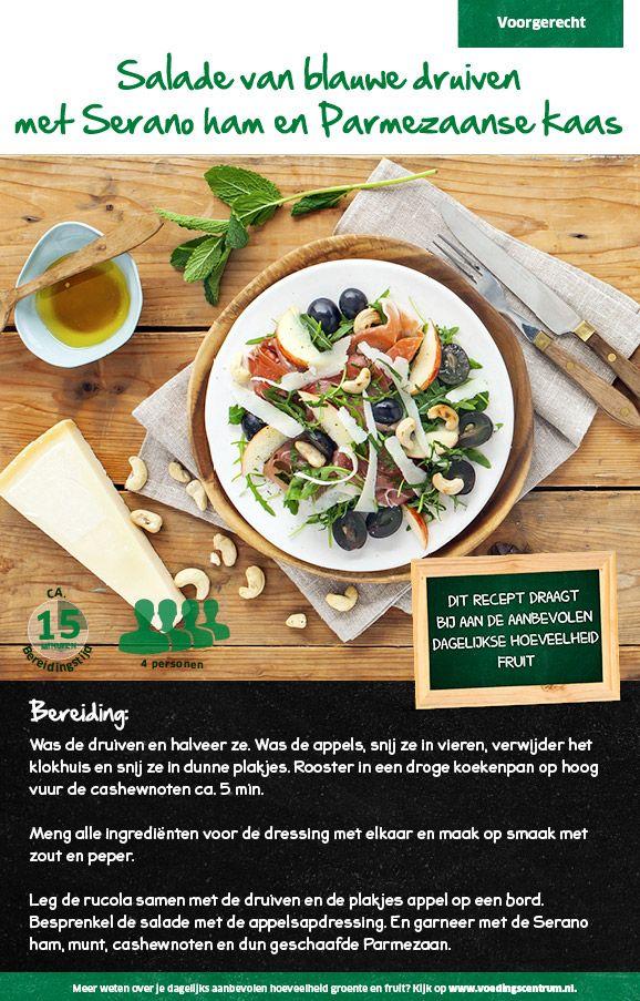 Salade van blauwe druiven met Serano ham en Parmezaanse kaas - Lidl Nederland