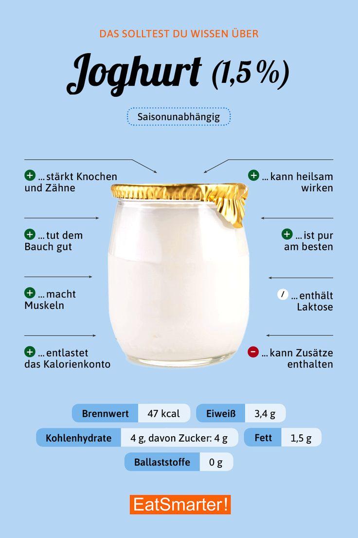 Das solltest du über Joghurt wissen | eatsmarter.de #joghurt #ernährung #infografik