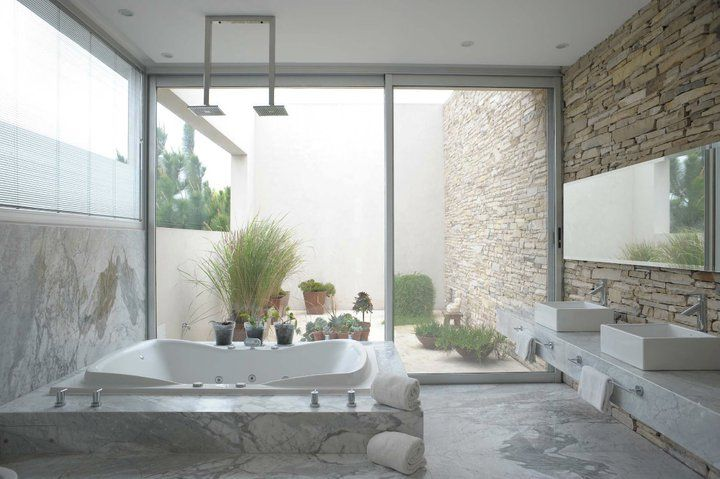 casa agua ba o principal con pisos y revestimientos en