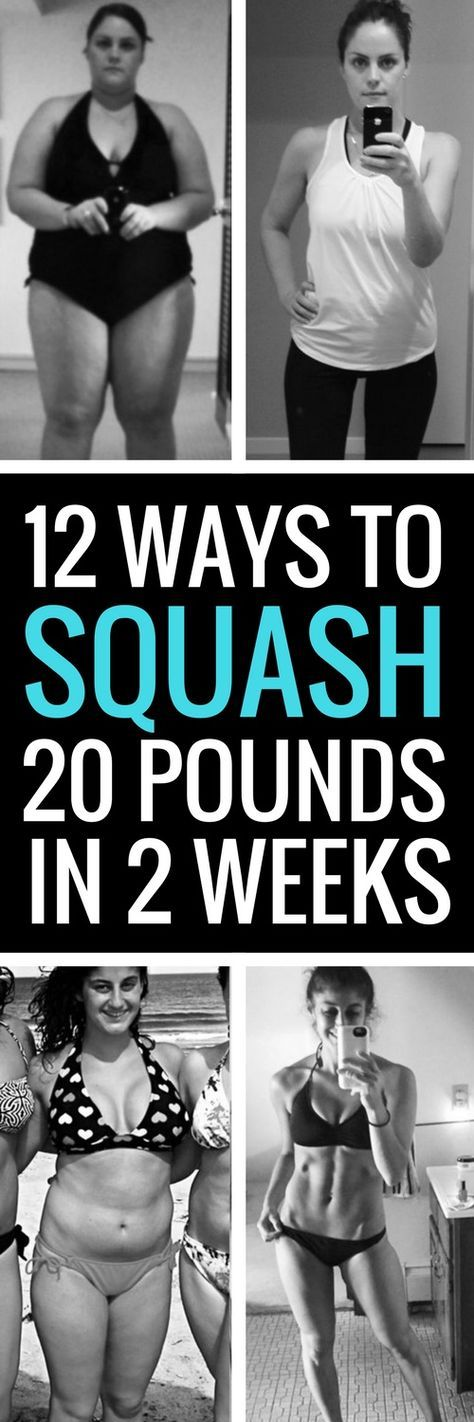 12 simple ways to lose 20 pounds in 14 days.