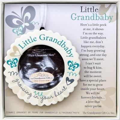 Sweet, sweet, Sweet! Can hang or sit on a desk for a grandbaby reveal or everyday lovin' reminder of what's to come!