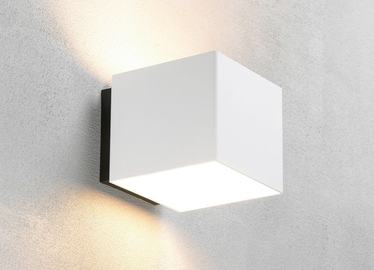 Welcome white outdoor wall lamp