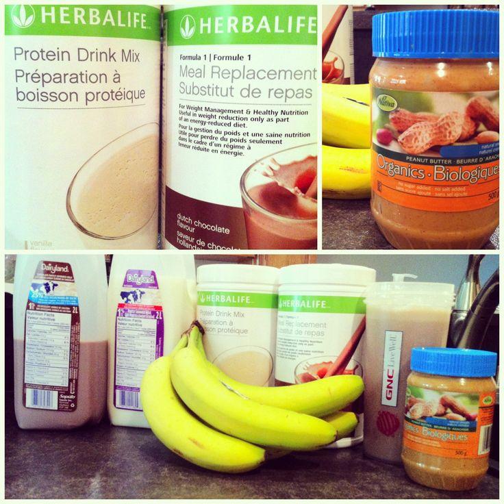 Herbalife meal replacement shake! Chocolate, vanilla banana peanut butter milk chocolate milk ice and water! Yummy! Follow me on Instagram @Paula mcr Graham