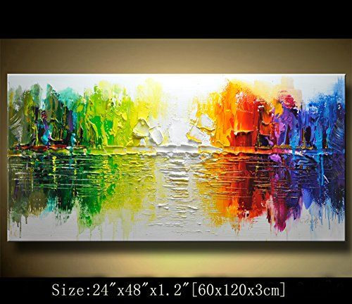 Contemporary Wall Art,, Modern Textured Painting,Impasto Landscape Textured  Modern Palette Knife Painting,Painting On Canvas.