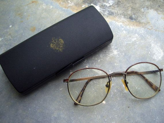 Rare Fabergé Eyeglasses. Authentic, Made in France. French lunettes & original branded magnetic latch case, vintage retro 1970s 80s eyewear @PumpjackPiddlewick on Etsy