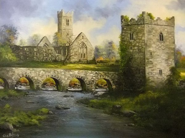 art-claregalway-castle-and-abbey-ch0601.jpg (600×448)