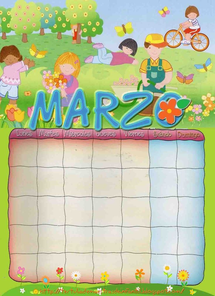ESOS LOCOS BAJITOS DE INFANTIL: CALENDARIO A COLOR