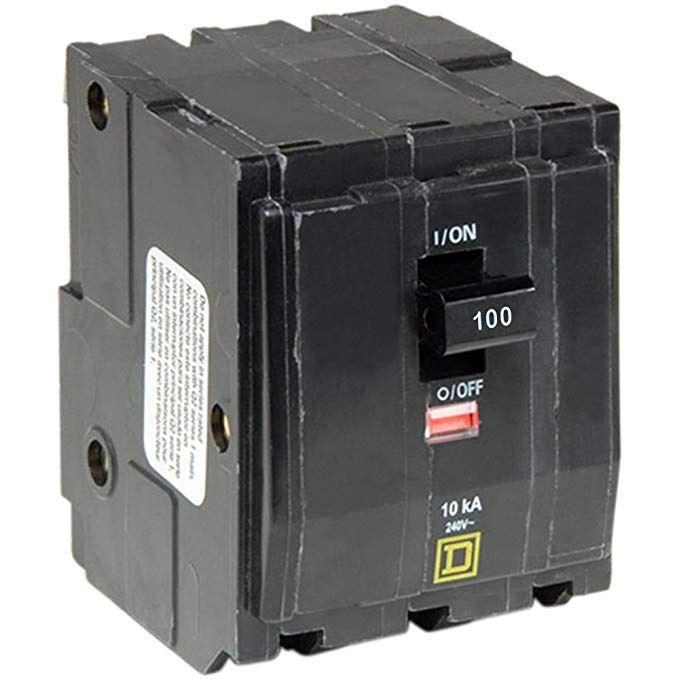 Square D By Schneider Electric Qo3100 Qo 100 Amp Three Pole Circuit Breaker Review Breakers Circuit Electric Circuit