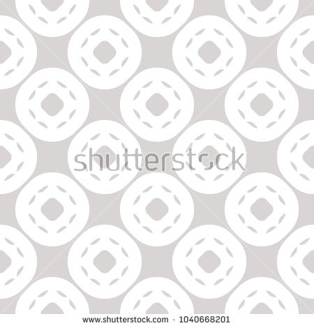 White and gray subtle vector geometric seamless pattern with circles, rounded grid. Simple modern abstract background. Elegant pastel backdrop. Delicate repeat design for decor, fabric, wallpapers