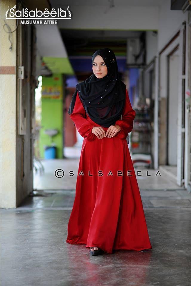 Muslimah Red Chilli Dress