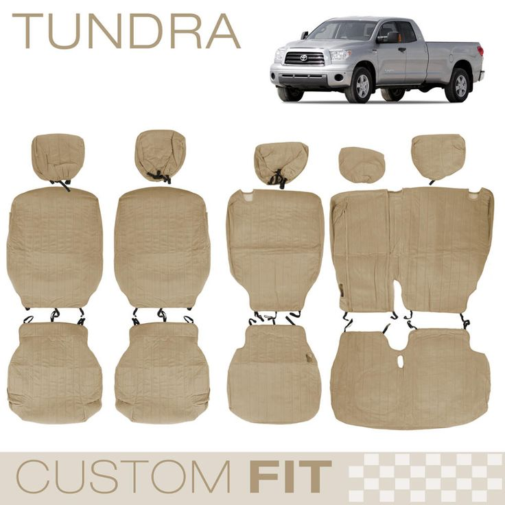 Custom Fit Encore Beige Seat Cover for Tundra (4DR Crew Max)