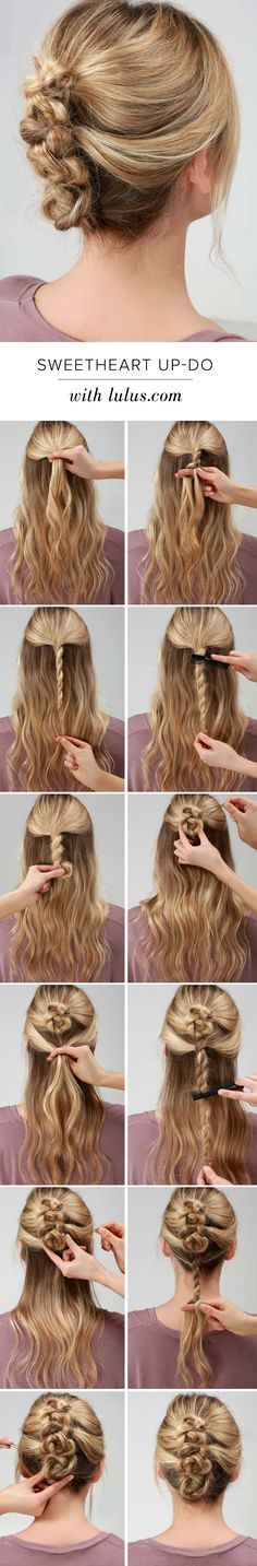 great and quick updo for your medium to long hair