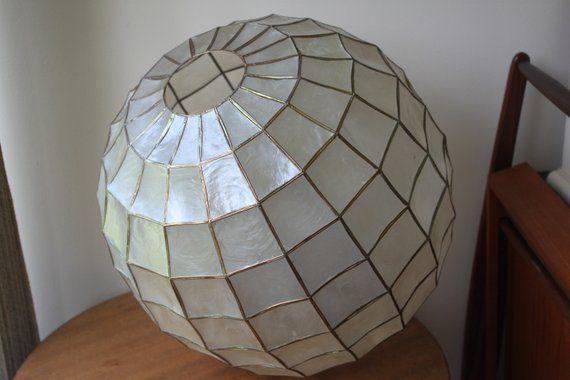 Modern Lattice Wicker Rattan Globe Ball Style Ceiling Pendant